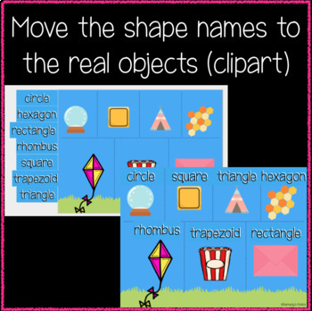 2D Shapes with Real Objects (clipart) (Great for Google Classroom!)