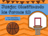 2D Shapes Game- Basketball Theme