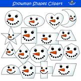 2D Snowman Shapes Clipart