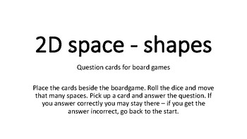 2D Space question cards