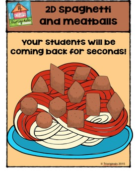 2D Spaghetti and Meatballs {P4 Clips Trioriginals Digital Clip Art}