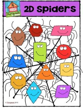 2D Spider Shapes {P4 Clips Trioriginals Digital Clip Art}