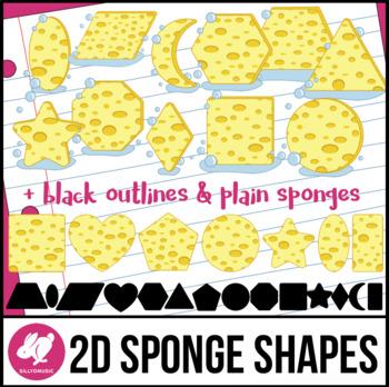 2D Shapes: Sponge Clip Art