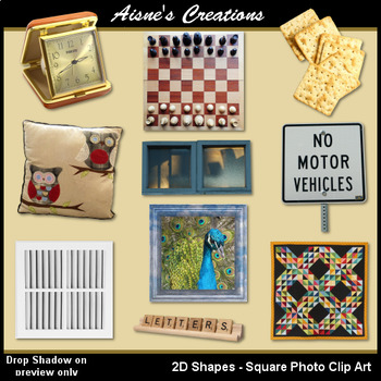 2D Square Shapes Real Photo Clip art