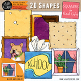 2D Squares in Real Life Clip Art