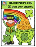 2D FUN St. Patrick's Day Shapes {P4 Clips Trioriginals Digital Clip Art}