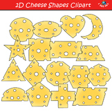 2D Swiss Cheese Shapes Clipart