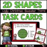 2D Task Cards (Ugly Christmas Sweater )