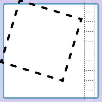 2D Tracing Place Value Blocks Clip Art Commercial Use