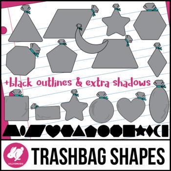 2D Shapes: Trashbag/Garbage Bag Clip Art