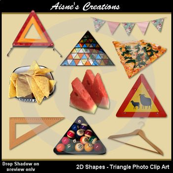 2D Triangle Shapes Real Photo Clip Art