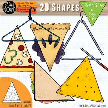 2D Triangles in Real Life Clip Art