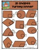 2D Turkey Dinner Shapes {P4 Clips Trioriginals Digital Clip Art}