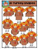 2D Turkey Shapes {P4 Clips Trioriginals Digital Clip Art}