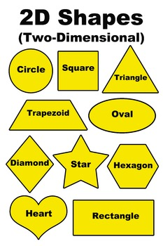 2D Two-Dimensional Shapes Poster/Handout - English