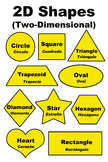2D Two-Dimensional Shapes Poster/Handout - English and Spanish