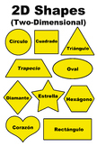 2D Two-Dimensional Shapes(Formas) Poster/Handout - Spanish