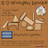 2D Wooden block set