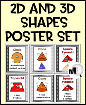 2D Shapes and 3D Shapes Geometry Posters
