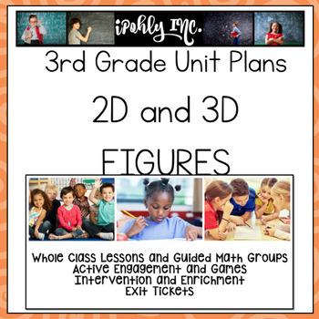 3rd Grade Lesson Plans 2D and 3D Figures  3.6A 3.6B 3.6E