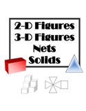 2D and 3D Figures, Solids and Nets with Perimeter and Area.