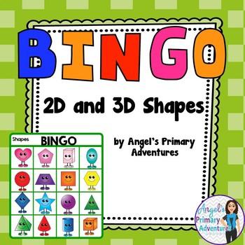 2D and 3D Geometry Shape Bingo Game
