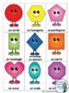 2D and 3D Geometry Shape Bingo Game in French