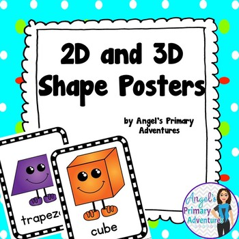2D and 3D Geometry Shape Posters