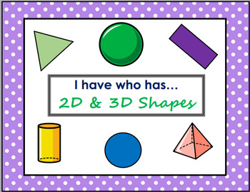 2D and 3D I have who has