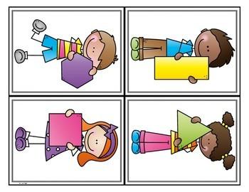 2D and 3D  Kindergarten Shape Sorts