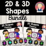 2D and 3D Posters BUNDLE {English, Spanish, French} - Light Wood Background