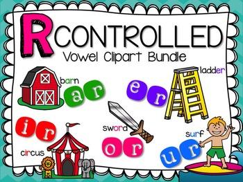 R Controlled Vowel Clipart Bundle by Teacher Laura