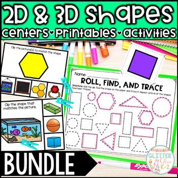2D and 3D Shape Activities  *Bundle*- Includes 16 Activities