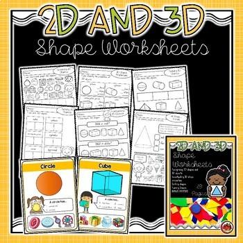 2D and 3D Shape Activity BUNDLE