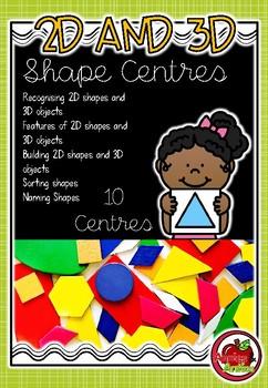 2D and 3D Shape Centres
