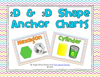 2d And 3d Shape Anchor Charts By Angelia Extra Special Teaching