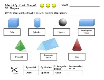 2D and 3D Shape Assessment - 4 worksheet bundle plus posters!