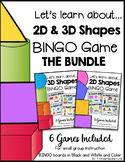 2D and 3D Shape BINGO Bundle