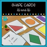 2D and 3D Shape Cards