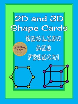 2D and 3D Shape Cards: English and French