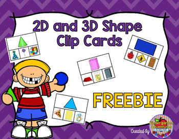 2D and 3D Shape Clip Cards