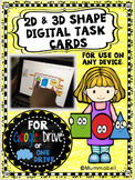2D and 3D Shape Digital Task Cards - DIGITAL activity