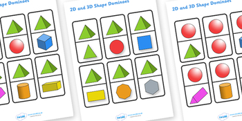 2D and 3D Shape Dominoes