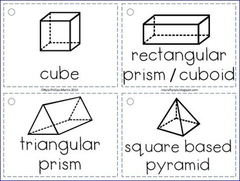 2D and 3D Shapes - Flash Cards
