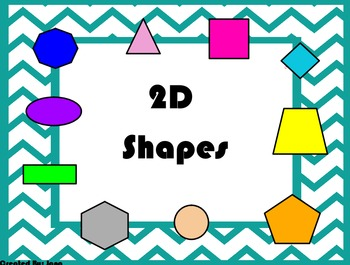 2D and 3D Shape Flip chart