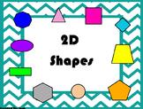 2D and 3D Shape Flip chart