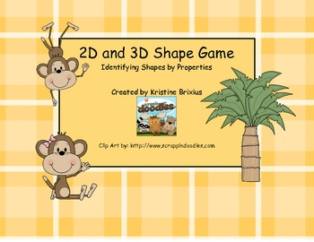 2D and 3D Shape Game