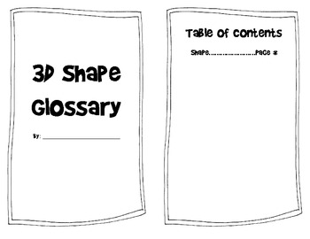 2D and 3D Shape Glossary