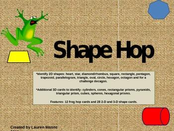 2D and 3D Shape Hop