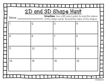 2D and 3D Shape Hunt